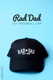 supplies needed to make your own rad dad diy cap