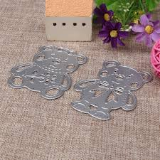2019 sbooking stamping cute bear cutting s metal cutting s for sbooking stencils diy embossing al paper card craft from daily necessities