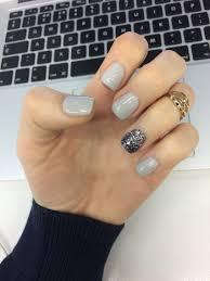 Grey Gelish nails with glitter | Nails | Pinterest | Gelish nails ...