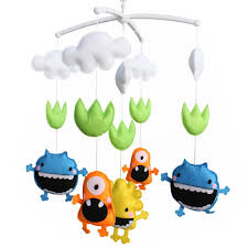 baby boy girl bedding rattle toy baby gift infant bed bell monster