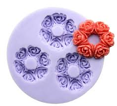 Cake Decorating Accessories Wholesale 100Cavity Rose Flower Garland Polymer Clay Mold By Happymolds 100100 100