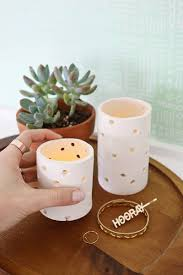 Clay candle votive