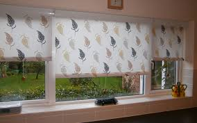Roller Blinds For Kitchen Patterned Roller Blinds Kitchen Cassette Surrey Blinds Shutters