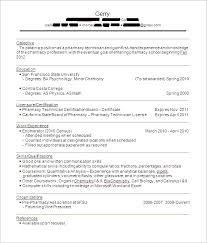 Resume Sample Resume For Pharmacy Technician Best Inspiration For