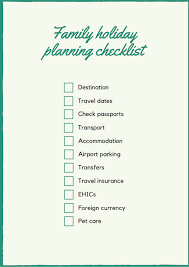 Family Holiday Planning Checklist Mums Do Travel
