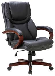 office chairs with adjustable lumbar support. executive office chair, adjustable lumbar support, swivel, wood armrest, black transitional- chairs with support u