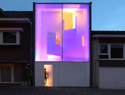 Squeezed Contemporary House With Glass Facade in Belgium - Home ...