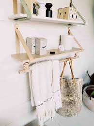 Clothes hanging shelf Closet Shelves And Designs Leather Strap Shelf With Hanging Rail