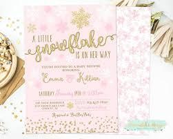 Snowflake Baby Shower Invitations Winter Baby Shower Invitations A Little Snowflake Is On Her Way