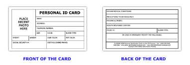 Emergency Identification Google Search Medical Cards