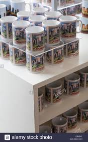 mysterious stonehenge gift mugs on display in at stonehenge visitor centre stonehenge