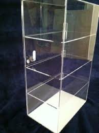 acrylic display case 12 x 7 x 20 5 diffe shelf spacing countertop showcase