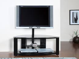 short metal and glass tv stand with mount for flat screen of nice