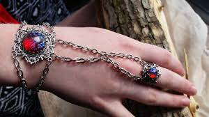 fire opal bracelet dragon s breath with attached ring spring gift ideas