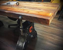 reclaimed wood office. Interior Design : Rustic Standing Desk Reclaimed Wood Dining Room Table Bookcase Repurposed Furniture Office R