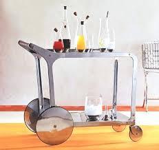 portable bar cart designs stainless steel bar cart on wheels modern stainless steel bar cart on