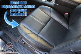 2007 2016 chevy avalanche lt z71 ltz leather seat cover driver bottom black