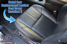 2007 2016 gmc sierra denali leather seat cover driver bottom black