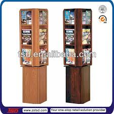 Wooden Book Stand For Display Tsdw100 Wholesale Retail Shop 100side Floor Book Display Shelf 31