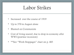 Red Scare And Labor Strikes Chart Answers A Republican Decade 1920s
