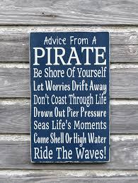 Boy Bathroom Sign Nautical Nursery Decor Advice From A Pirate Beach Sign Kids Pirate