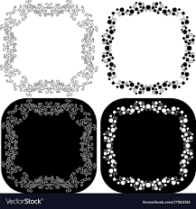 decorative scroll frames vector image