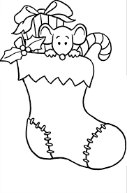 Small Picture Stocking Coloring Sheets Hedonautnet