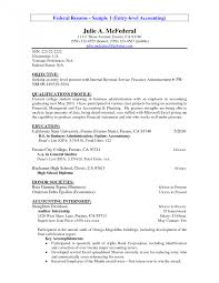 Federal Resume Sample Resumes Accountant Administrative Support