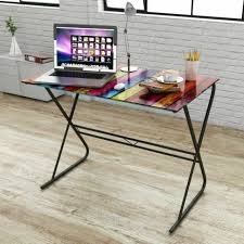 <b>Glass Desk with Rainbow</b> Pattern for sale online