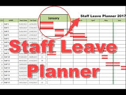 Gant Chart Staff Leave Planner Project Planner Youtube