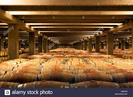 oak wine barrels. oak wine barrels la rioja northern spain e