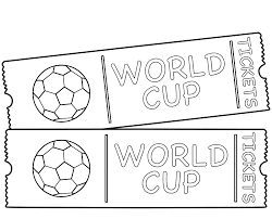 Small Picture World Cup Game Tickets Coloring Page World Cup