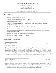 Impressive Private Equity Resume Pdf For Investment Banking Format