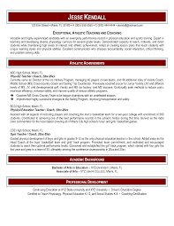 sample resume for pe teachers resume and cover letter examples sample resume for pe teachers resume examples by professional resume writers physical education resume sample page