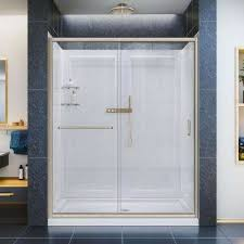 infinity z 30 in x 60 in semi frameless sliding shower door