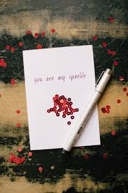 diy valentines day cards sparkle valentine s card easy handmade cards for him and her