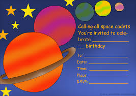 kids birthday party invitations printable st birthday space and planets birthday party invitation to print