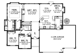 Ranch Style House Plans With Hearth Room   Free Online Image House        Ranch Home Plans With Open Floor Plans moreover Ranch House Plans With Side Garage likewise Modern