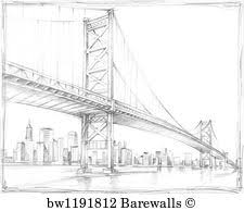 architectural drawings of bridges. Architectural Drawings Art Print Poster - Suspension Bridge Study Iii Architectural Drawings Of Bridges