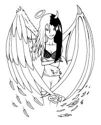 15 Dessins De Coloriage Manga Ange Imprimer