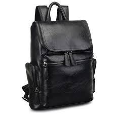 2017 brand designer men leather backpack men s school backpack bag bagpack mochila feminina black brown travel bag shoulder bag