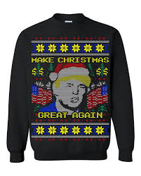 Donald Trump Make Christmas Great Again Ugly Christmas Men ...