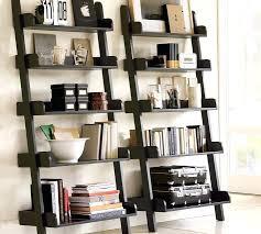 black ladder shelf contemporary ladder bookshelf studio wall shelf pottery barn black ladder shelf bathroom