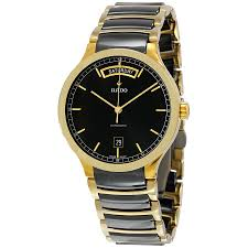 rado centrix day date black dial gold plated black ceramic men s rado centrix day date black dial gold plated black ceramic men s watch r30157162
