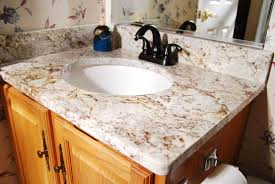 Tuscan Bathroom With Wooden Vanities With Granite Countertops And - Granite countertops for bathroom