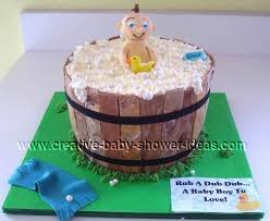baby in a barrel bathtub cake