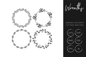 I thought this would look great with gold foil on a black tote. Wreath Svg Cut Files For Crafters Svg Dxf Ai Eps Free Design Of The Week Design Bundles