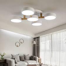 wood chandelier led modern