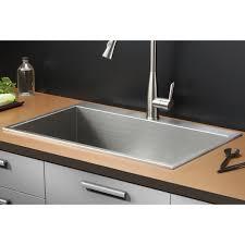 tirana 33 x 21 drop in single bowl kitchen sink