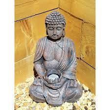 powered sitting buddha stone